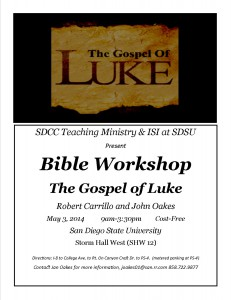 Gospel of Luke Workshop flyerlyer